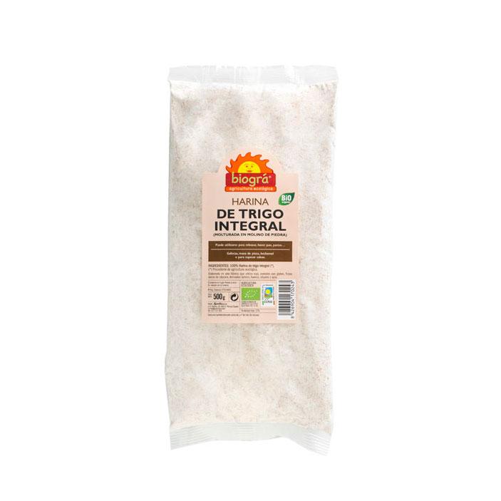 Harina de trigo integral 500 gr Biográ