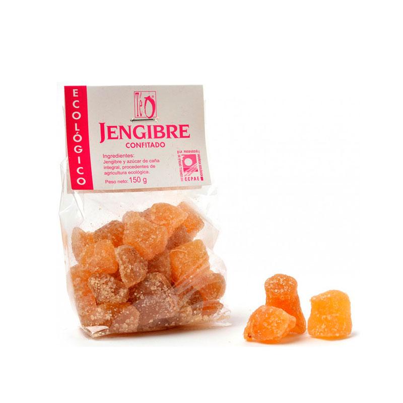 Jengibre confitado con azucar 150 gr. Teo