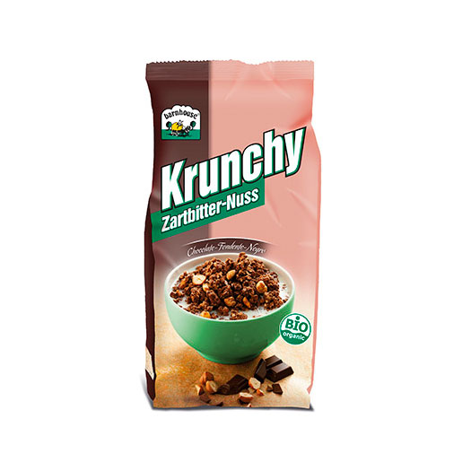 Krunchy chocolate y avellanas 375 gr. Barnhouse