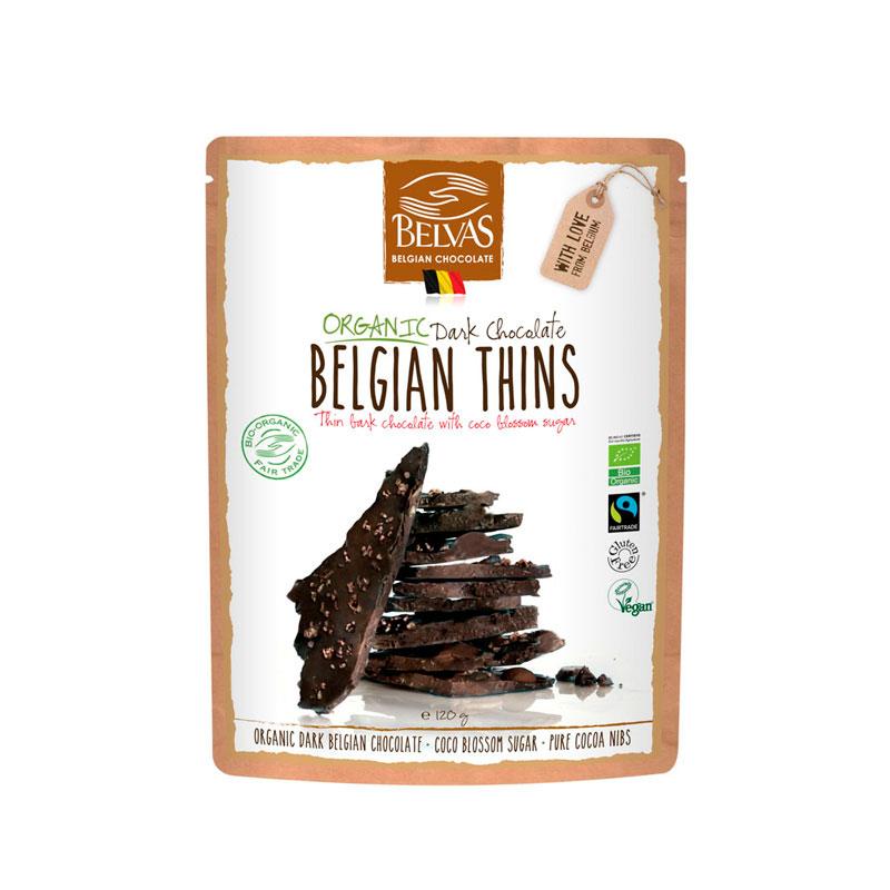 Laminas chocolate, coco y cacao 120 gr. Belvas