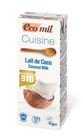 Leche de coco para cocinar 200 ml. Ecomil
