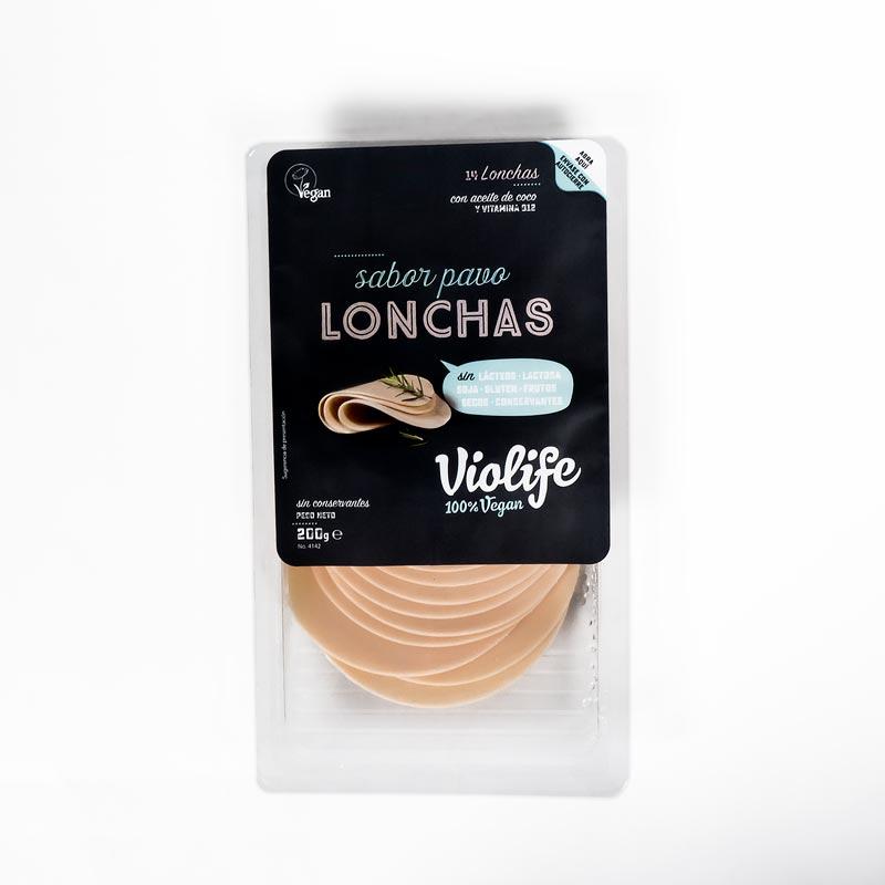 Lonchas veganas pavo 200 gr. Violife