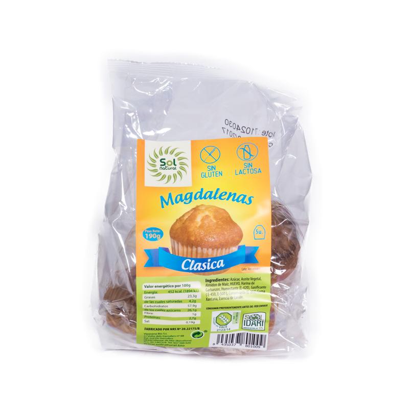 Magdalenas sin gluten, sin lactosa Solnatural