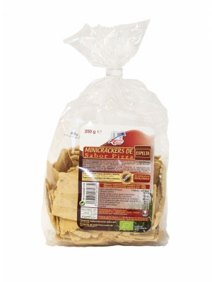 Mini crackers espelta-pizza 250gr Finestra