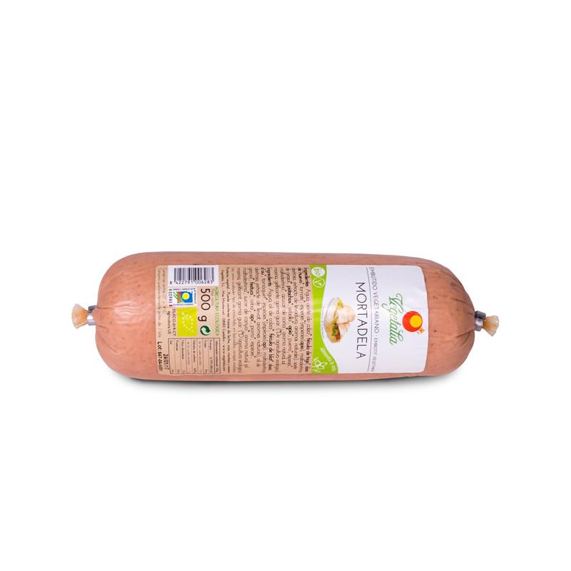 Mortadela vegetal granel 500 gr. Vegetalia