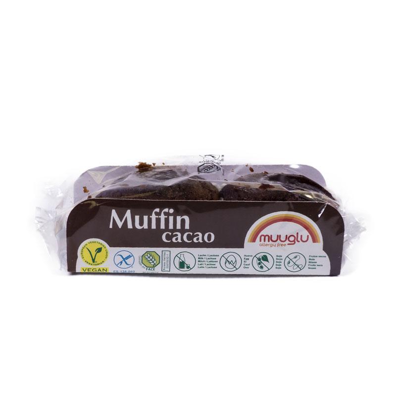 Muffin de cacao sin gluten 2 x 120 gr. Muuglu
