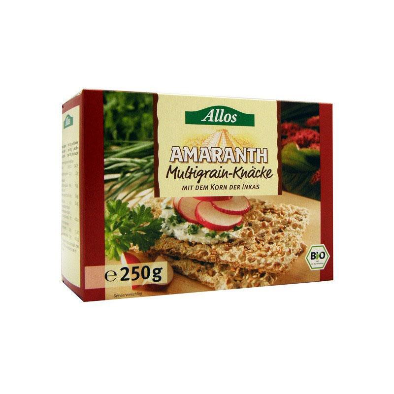 Pan crujiente amaranto y cereales 250 gr Allos