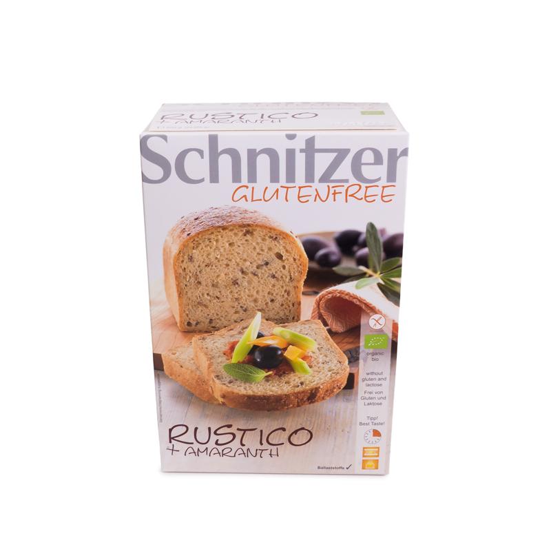 Pan rustico amaranto sin gluten 2x250 g. Schnitzer