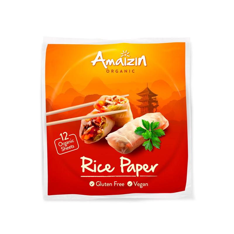 Papel de arroz rollitos 12 u. Amaizin