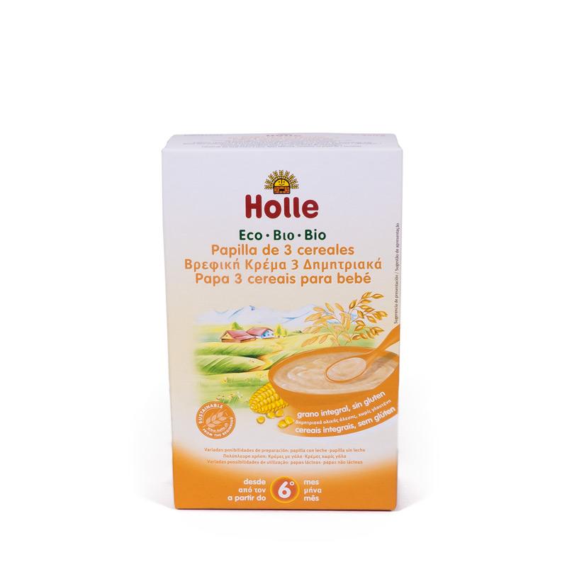 Papilla de 3 cereales 6 meses 250 gr. Holle