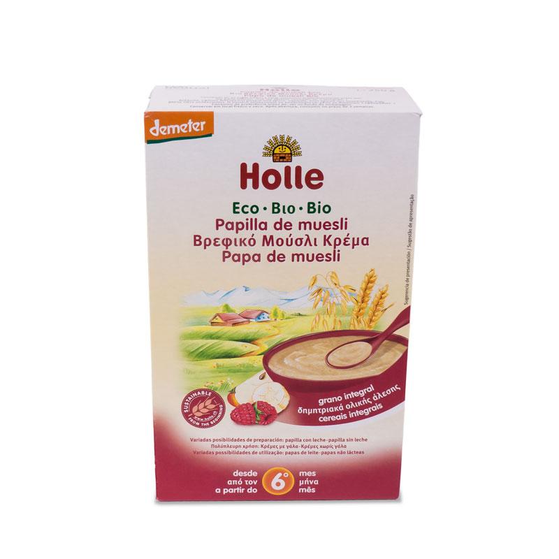 Papilla de muesli 6 meses 250 gr. Holle