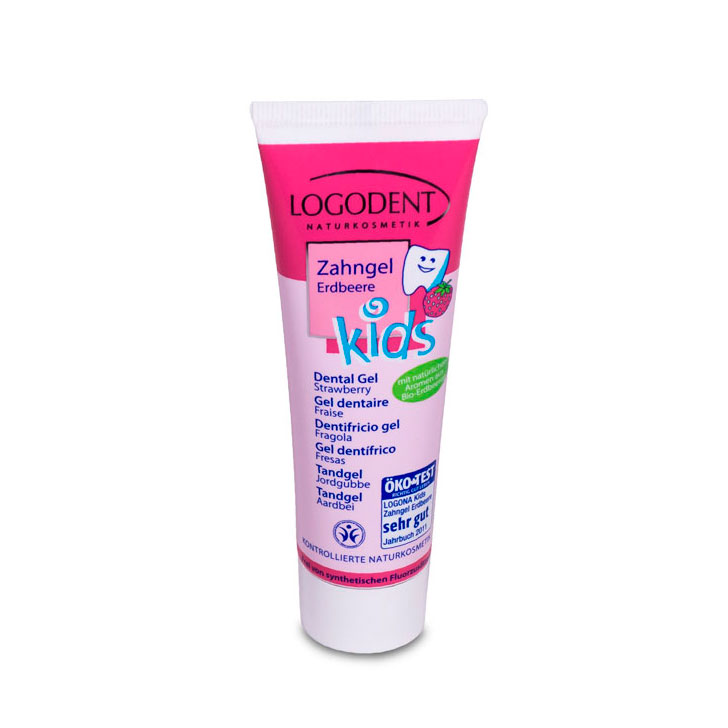 Gel dental kids fresa 50 ml. Logona