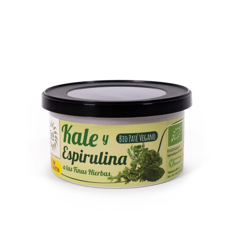 Pate kale,espirulina,finas hierbas 125 gr. Sol Natural