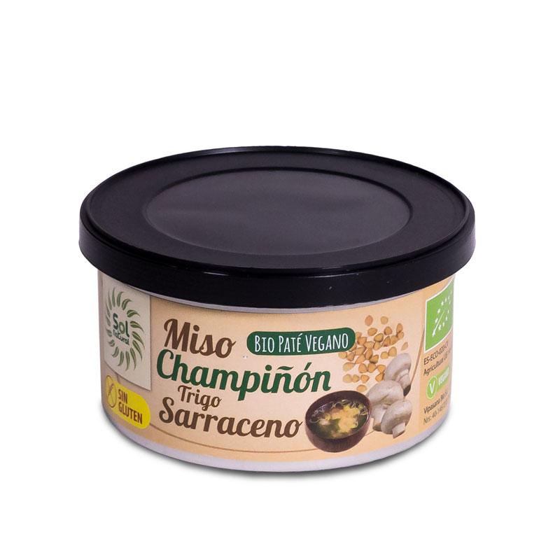 Pate miso,champiñon y sarraceno 125 gr. Sol Natural