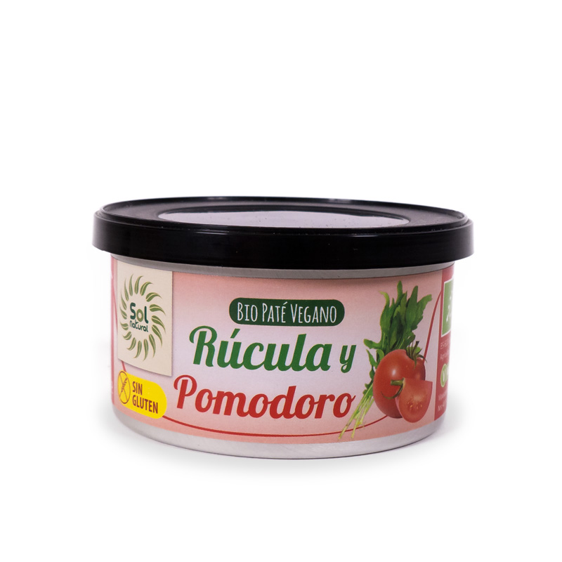 Pate rucula y pomodoro 125 gr. Sol Natural