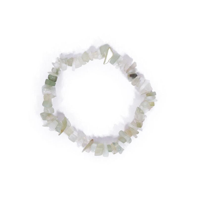Pulsera chip minerales jade