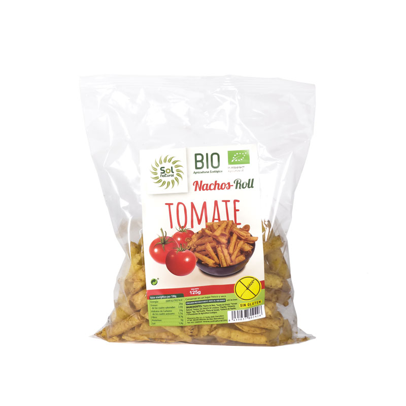 Roll tomate sin gluten 125 gr. Solnatural
