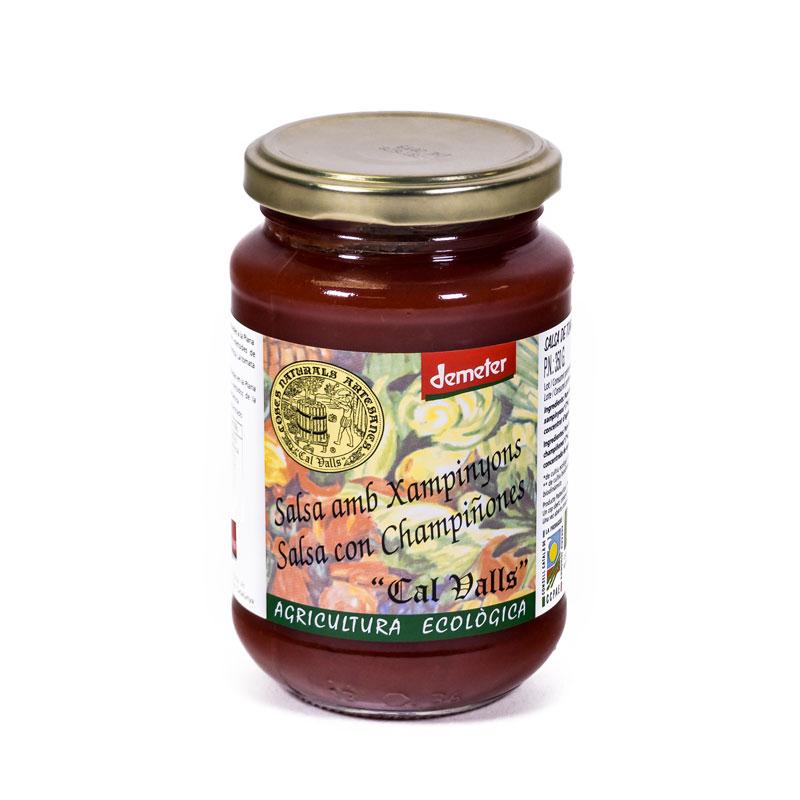 Salsa tomate con champiñon 350 gr. Cal Valls