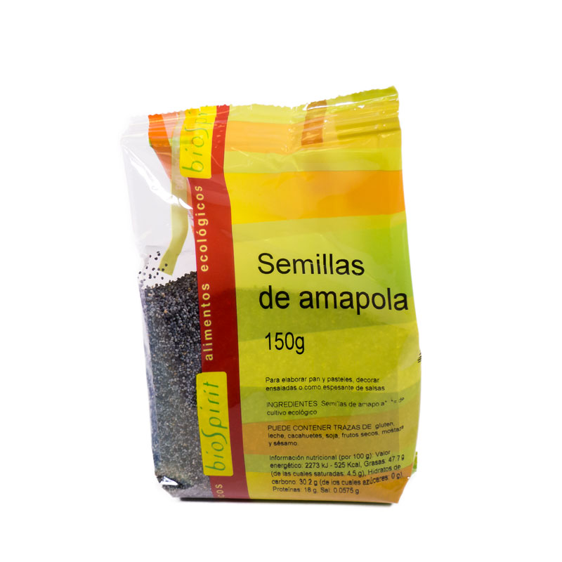 Semillas de amapola 150 gr. Biospirit