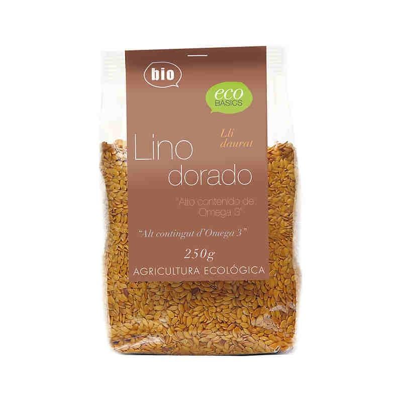 Semillas de lino dorado 250 gr Ecobasics