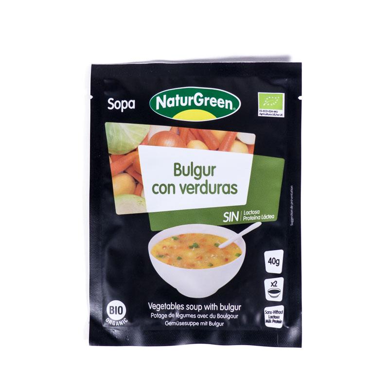 Sopa bulgur y verduras 40gr Naturgeen