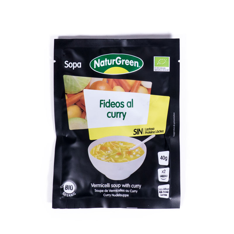 Sopa fideos al curry 40 gr. Naturgreen