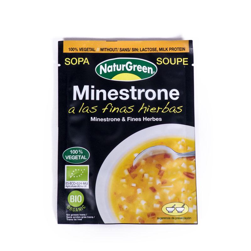 Sopa minestrone y finas hierbas 40 gr Naturgreen