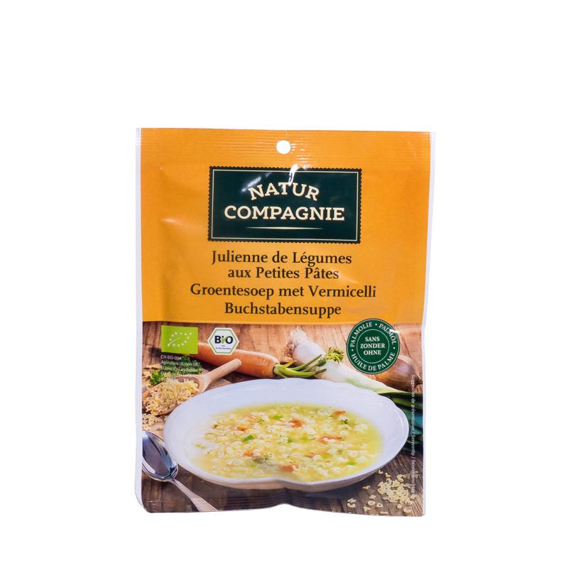 Sopa verduras y pasta 50gr Natur Compagnie