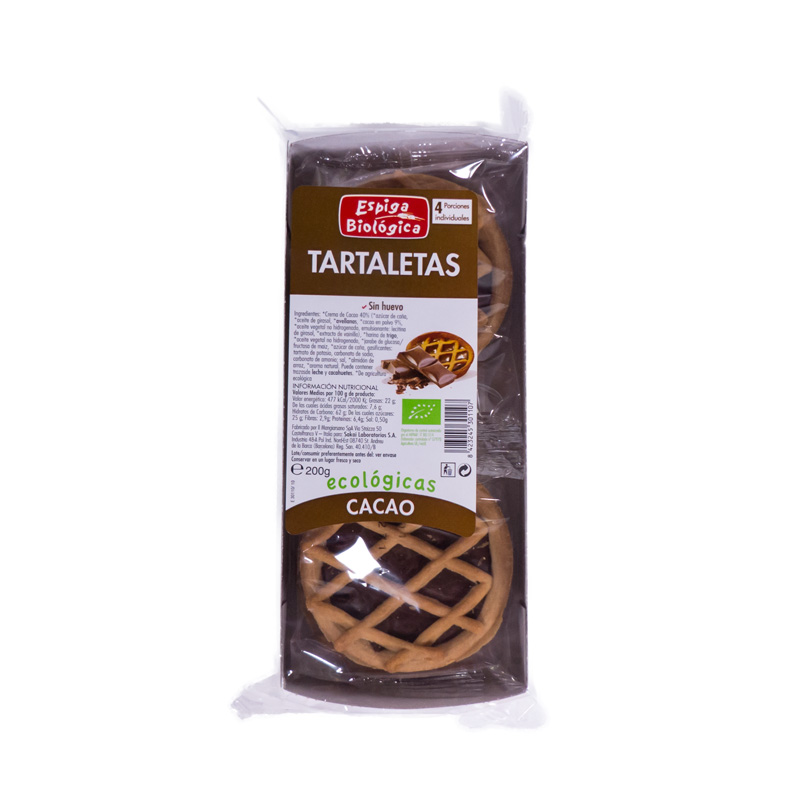 Tartaletas con chocolate 200 gr. La Espiga