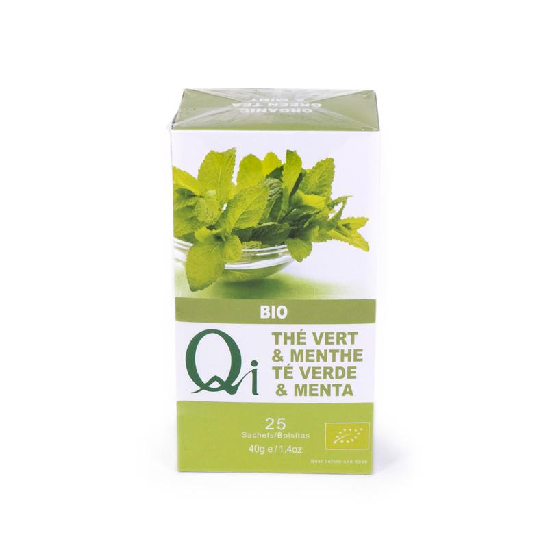 Te verde chino con menta 25 bolsitas Qi