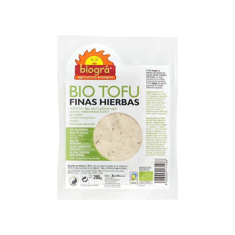 Tofu finas hierbas 290gr Biográ