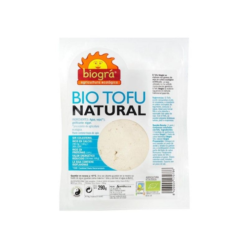 Tofu fresco natural 290 gr. Biogra