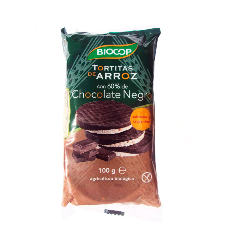 Tortitas arroz chocolate negro 100 gr Biocop