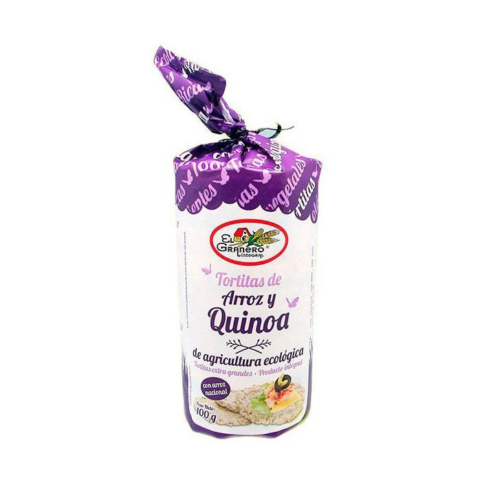 Tortitas arroz y quinoa 100 gr El Granero