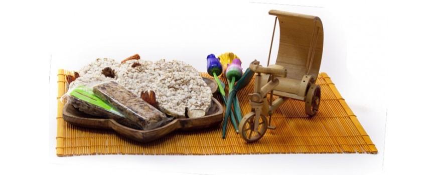 Tortitas ecológicas y barritas energéticas ecológicas