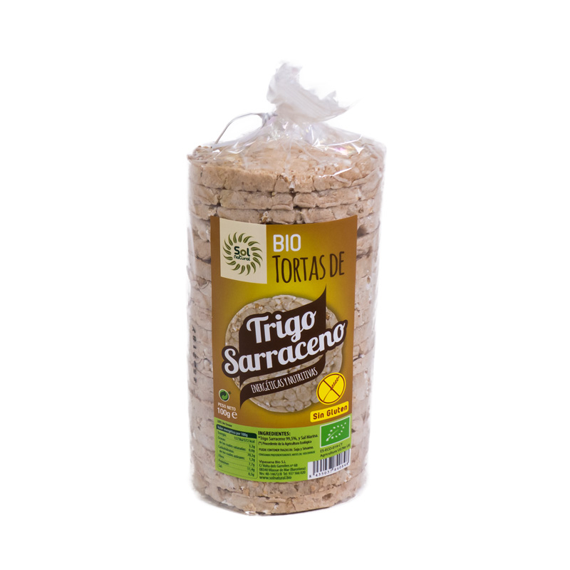 Tortitas trigo sarraceno 100 gr. Sol Natural