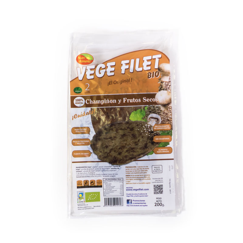 VegeFilet champiñon-frutos secos 200gr NutriAlimen