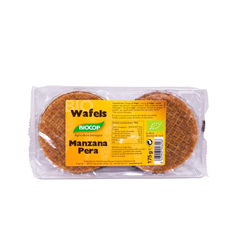 Wafels de manzana y pera 175 gr Biocop