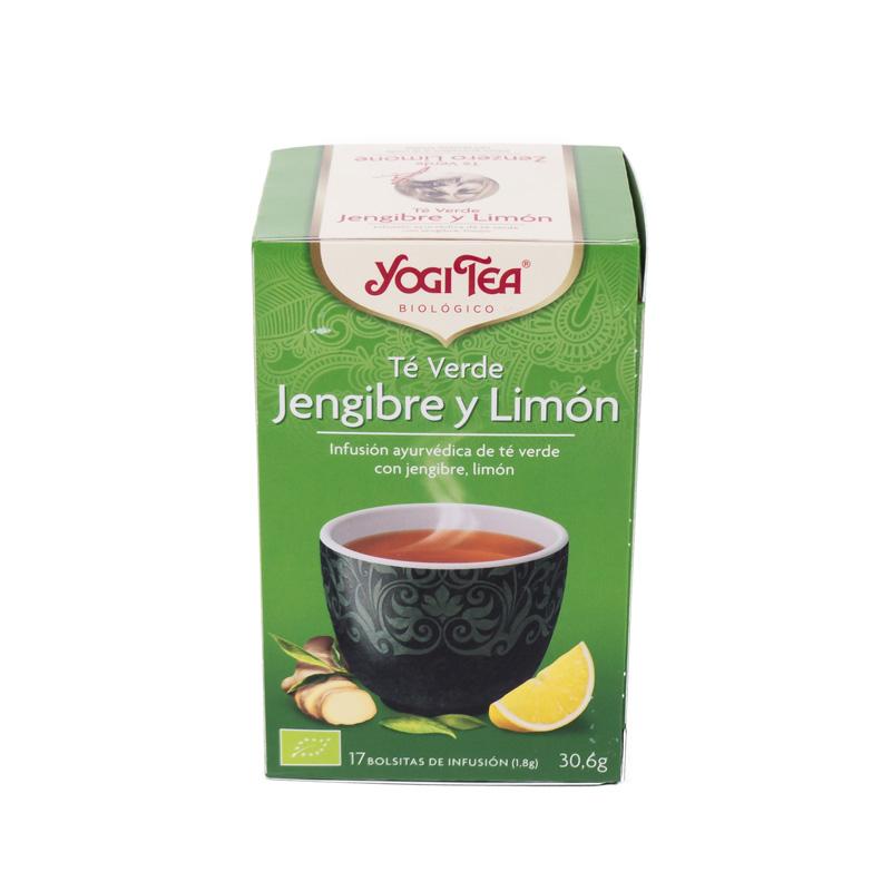 Yogi Tea té verde, jengibre y limón 17 bolsitas