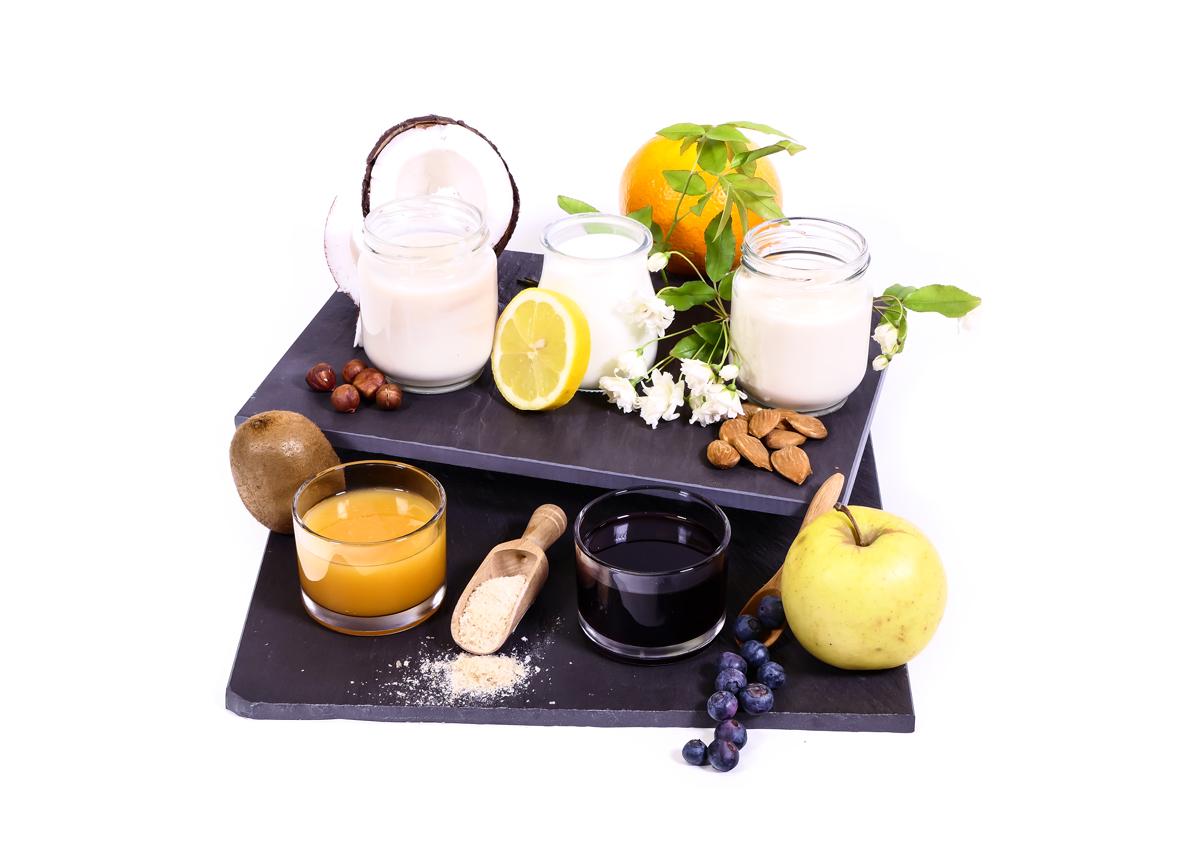 Yogures y postres vegetales