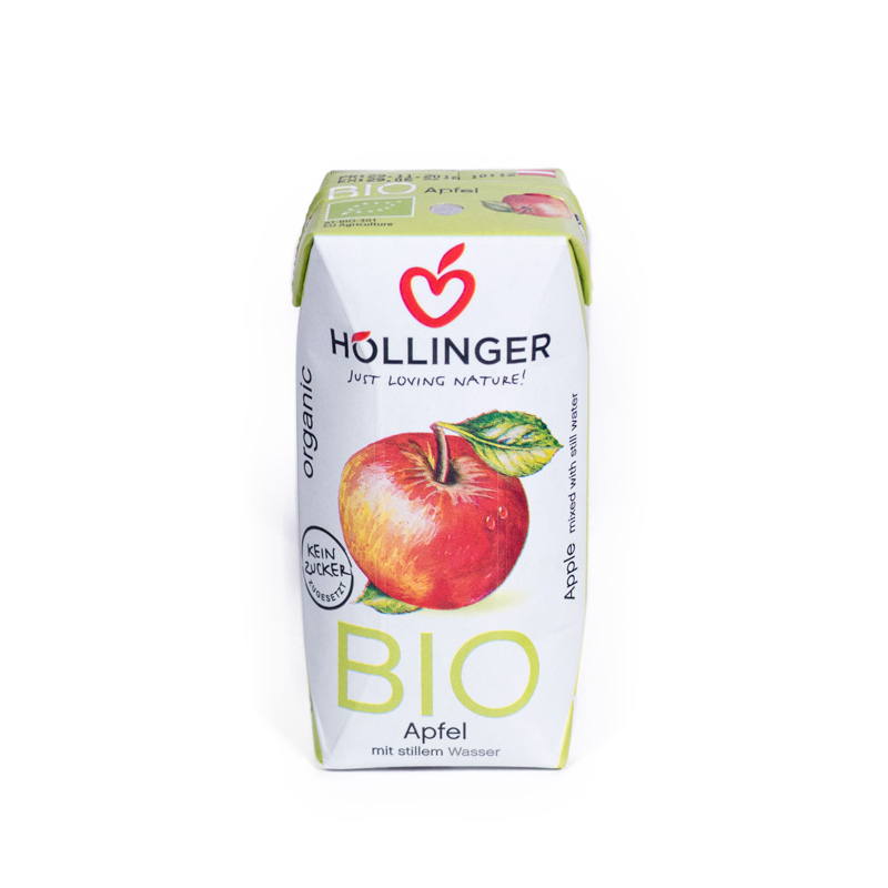 Zumo de manzana 200 ml. Hollinger