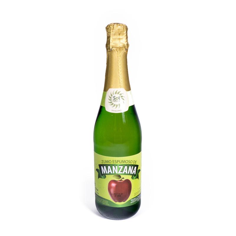 Zumo espumoso de manzana 750 ml Solnatural
