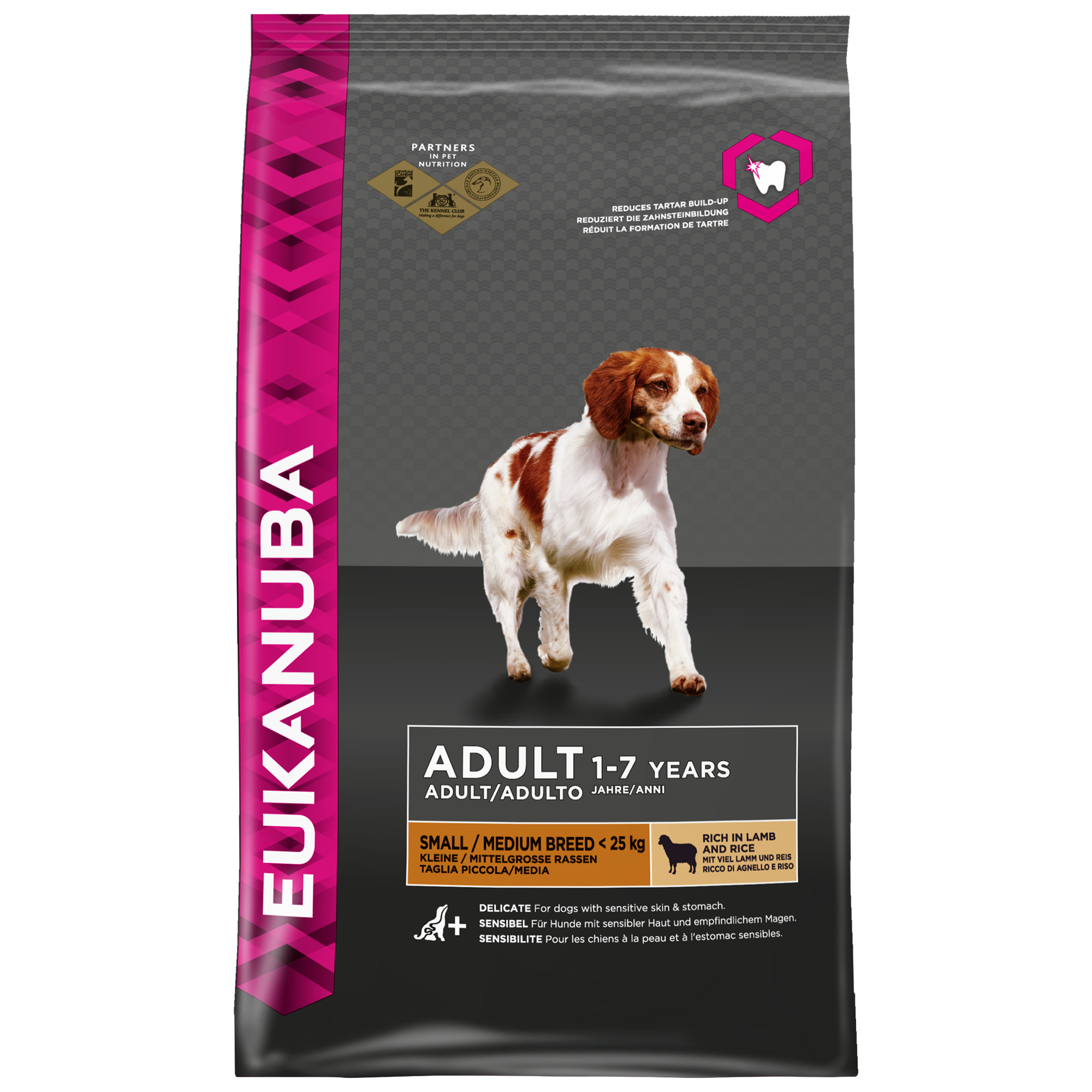 EUKANUBA PERRO ADULT MEDIUM CORDERO Y ARROZ 12KG