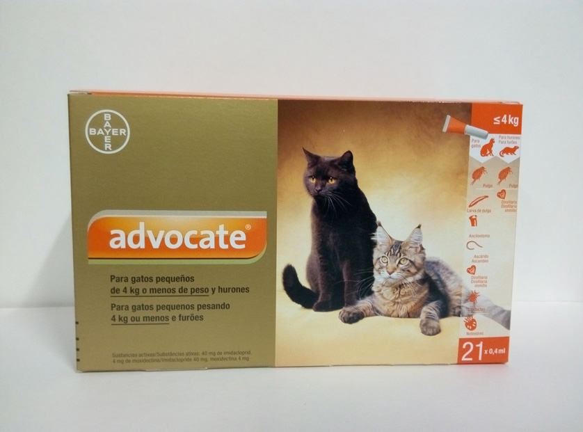 ADVOCATE GATOS  0.4ml x 21 Pipetas