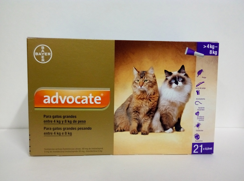 ADVOCATE GATOS  0.8ml x 21 Pipetas