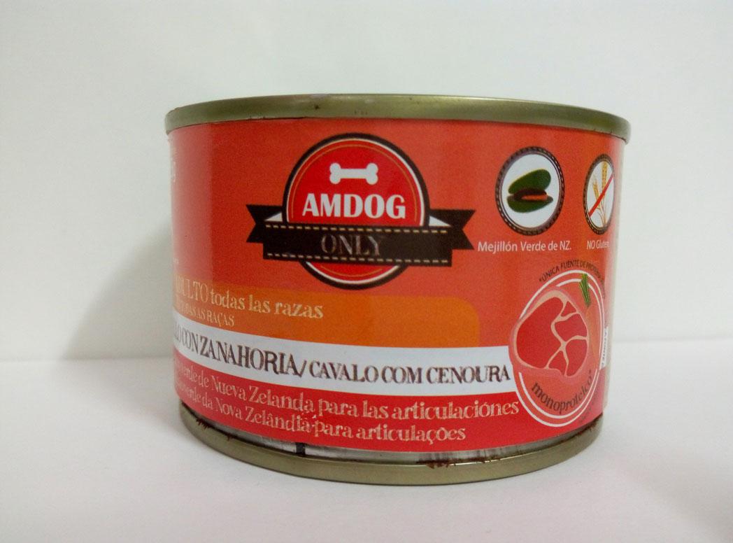 AMDOG CABALLO con ZANAHORIA 155g (PERRO ADULTO)