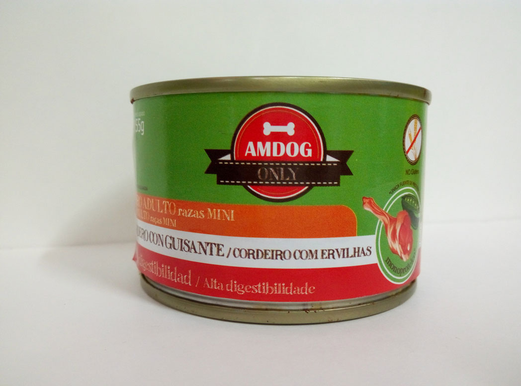 AMDOG CORDERO con GUISANTE 155g (PERRO ADULTO MINI)