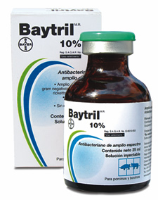 BAYTRIL INYECTABLE 10%  50 ML