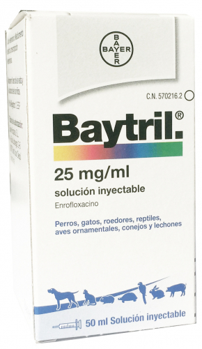 BAYTRIL INYECTABLE 2,5 % 50 ML.