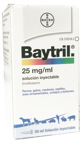 BAYTRIL INYECTABLE 2,5 % 50 ML.